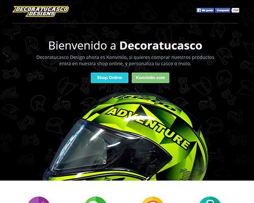 Landing page // Decoratucasco Design