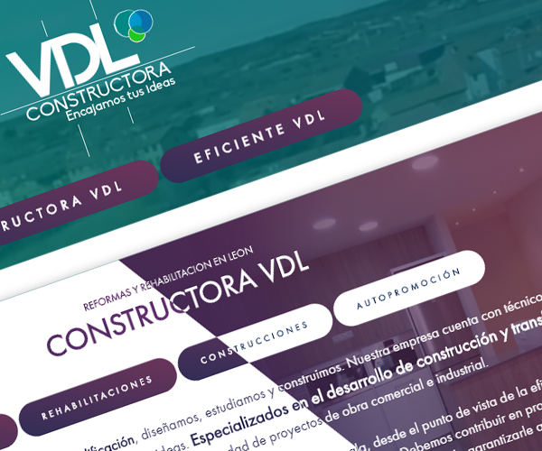 Constructora VDL // Restyling diseño web