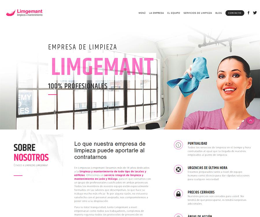 """passion agency — actualización web """"limpiezas limgemant"""""""
