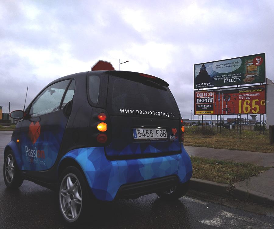 Diseño de publicidad en vallas exteriores